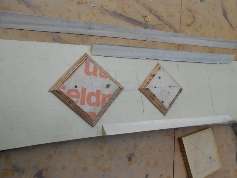 Detail blocks with 1'x1' skew back.