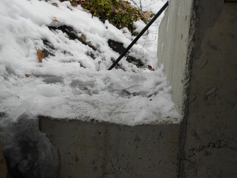 Step 1: Chop out 6 inches of solid ice.