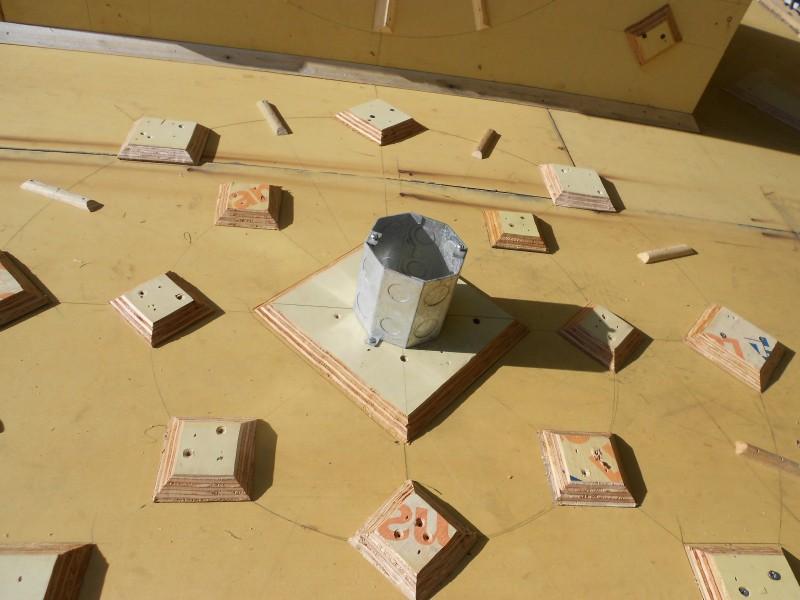 Hanging fixtures get an octagon box.