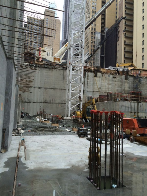 Extending the tower above street level