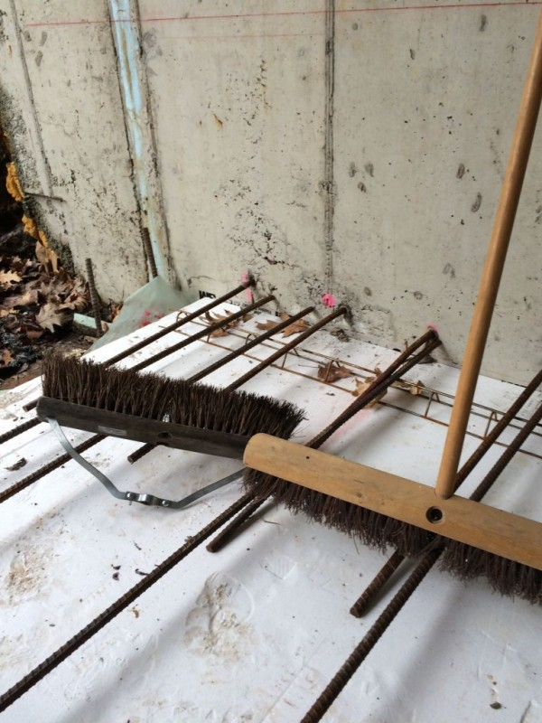 Broom with mangled stabilizer. Father in Law's broom.