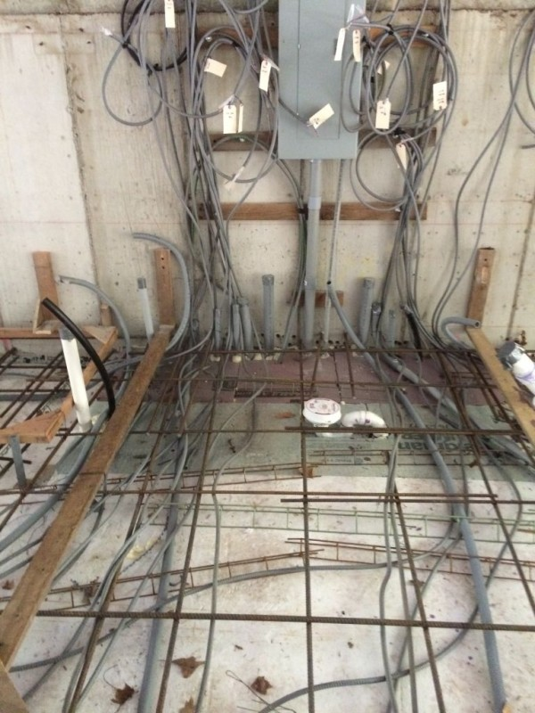 Panel box before the pour. a spaghetti western if ever there was one.