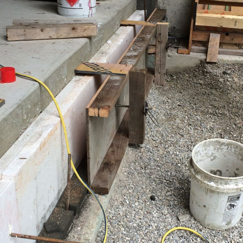 Beginings of an outside curb.