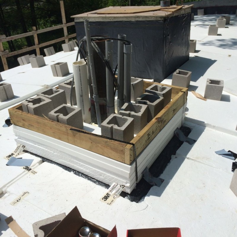 Formed up chimney base.