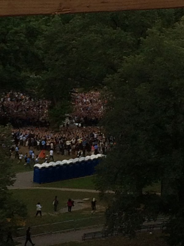 The Pope going through Central Park!