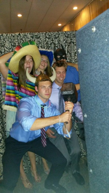 Wedding Photo booth: Gotta love the props!