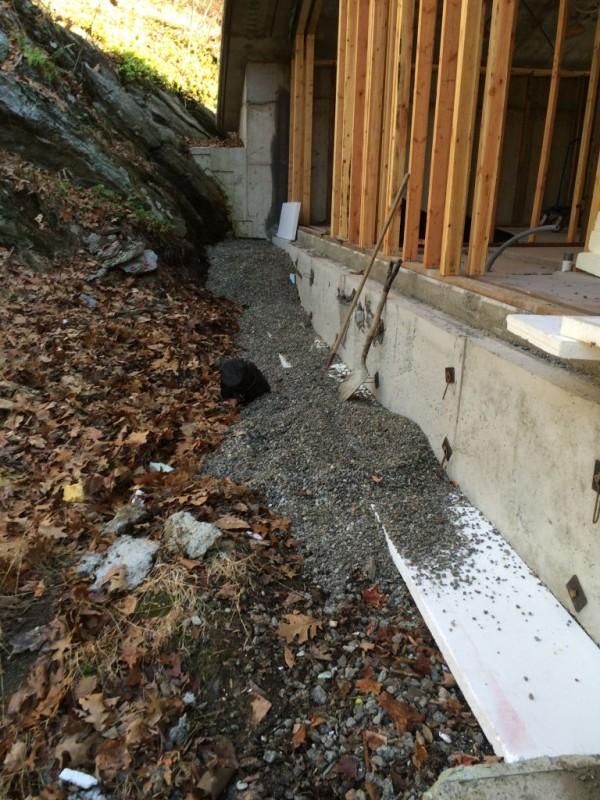 North side drainage.