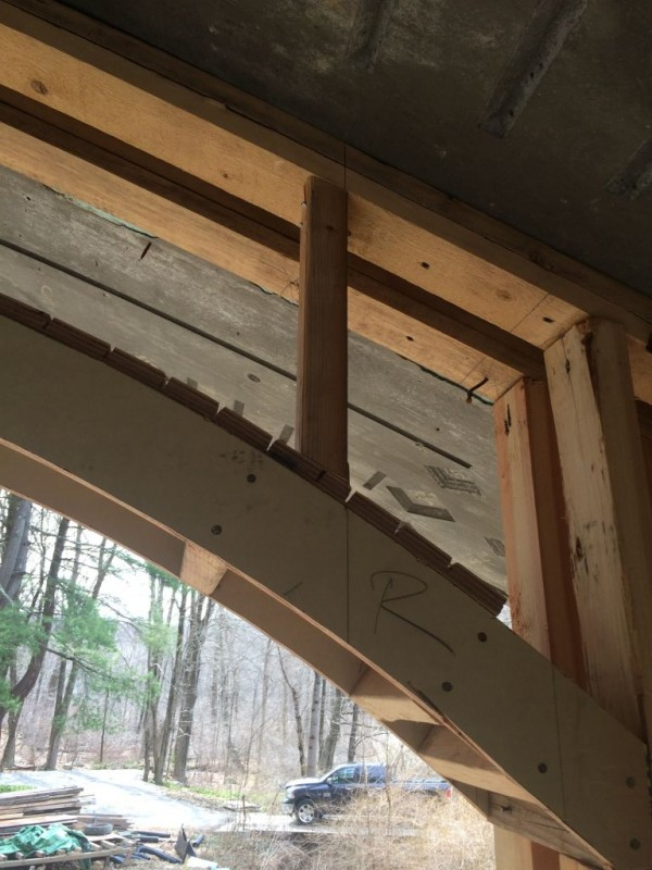 Upper window framing begun!