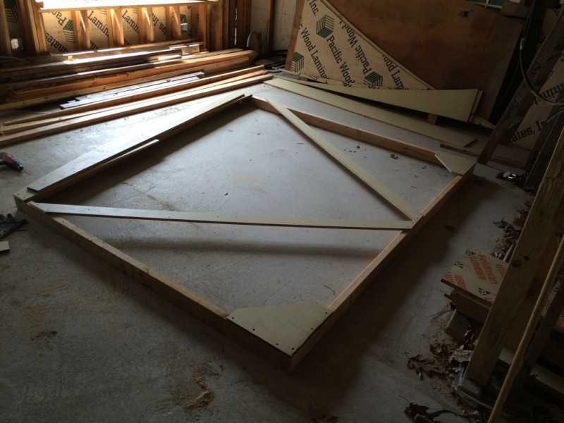 Full scale template of the bedroom windows.
