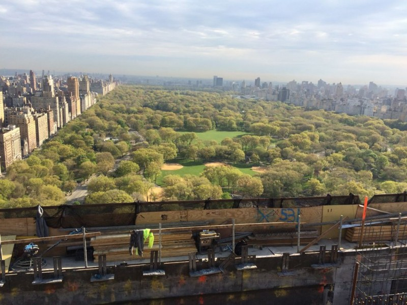 View from 220 Central Park South.