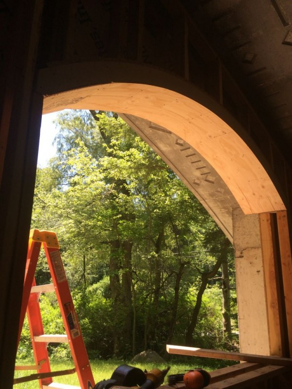 Framing extension on the first window.
