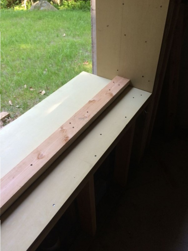2x4 that the window will sit on.