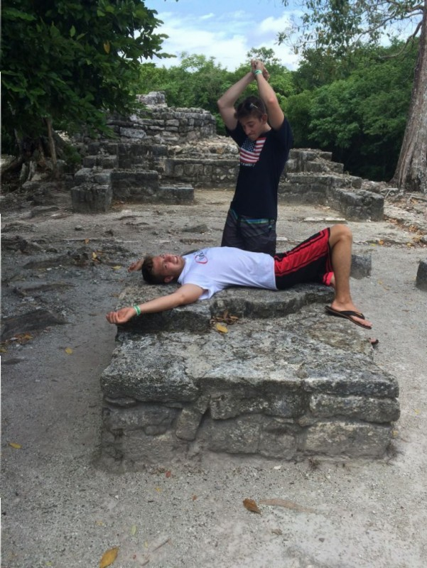 Mayan sacrifice to the gods.