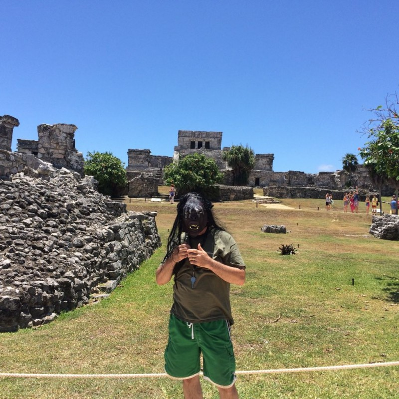 Bob on vacation touring the Mayan City of Tulum!