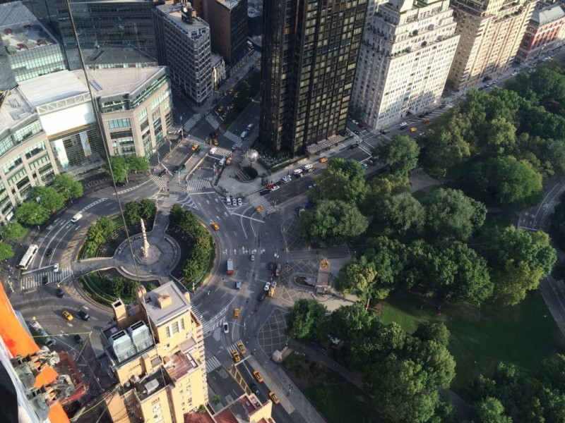 View of Columbus Circle from the 51st floor