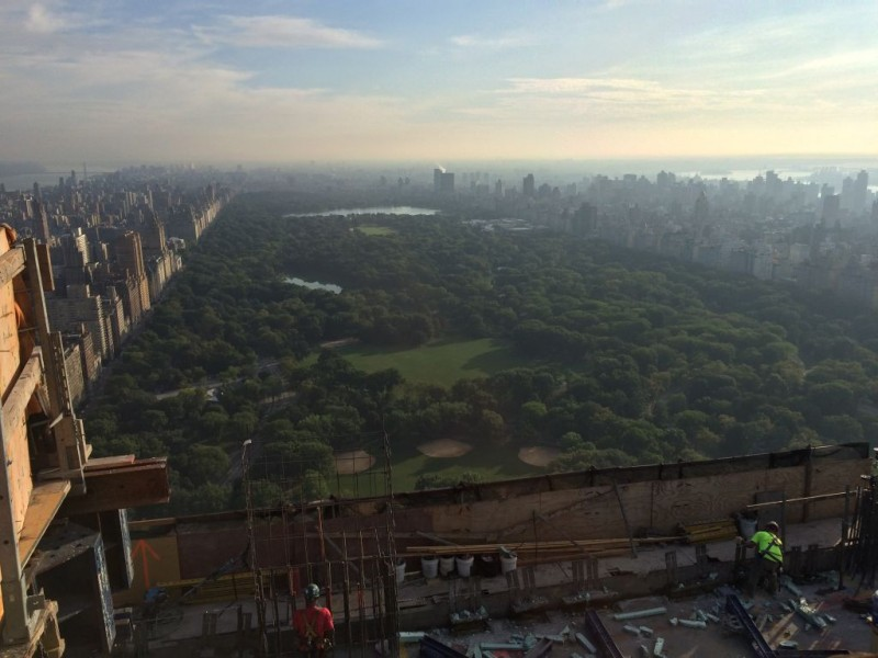 View from 51s tflorr of Central Park