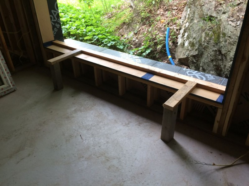 Landing extensions for the window.