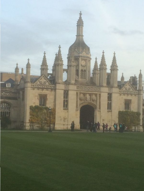 This is the entryway to the grounds of Kings College Chapel. Cambridge,England. Remarkable.